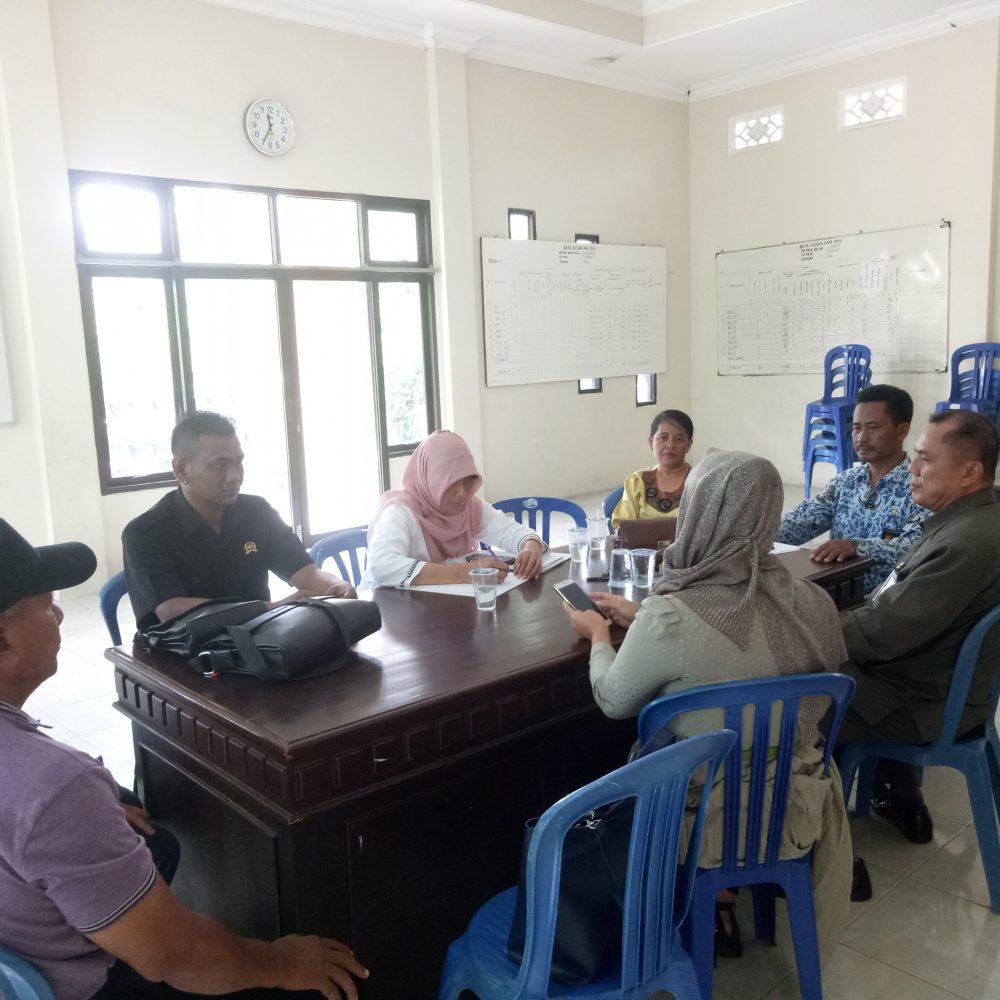 Perundingan di kantor desa terkait aset debitur yg sudah dilelang